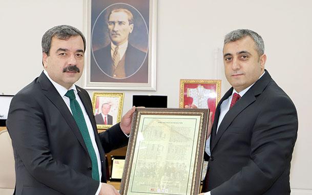 İl Kültür ve Turizm Müdürü Karaca, Rektörümüzü Ziyaret Etti