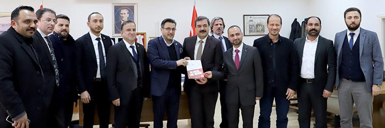 TÜRES Yönetiminden Rektörümüz Prof . Dr. Mehmet KUL'a ziyaret