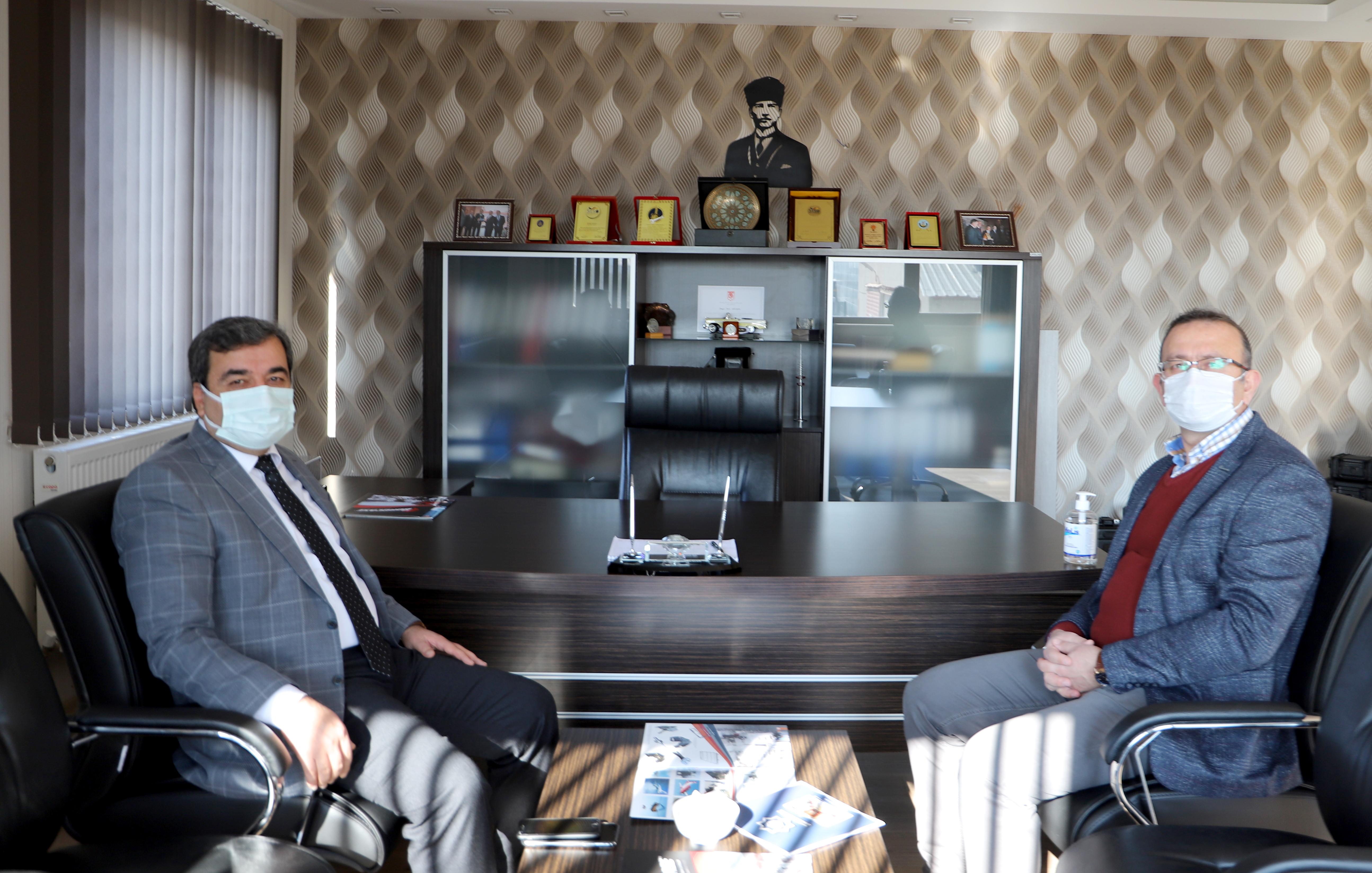Rektörümüz Prof. Dr. Mehmet Kul, Gökçeler Makine Genel Müdürü Ahmet Nazmi Gökçeler'i Ziyaret Etti